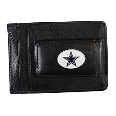 Dallas Cowboys Black Leather Cash & Card Holder