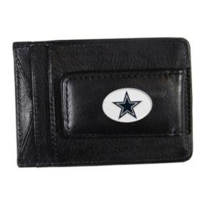 Dallas Cowboys Black Leather Cash & Card Holder