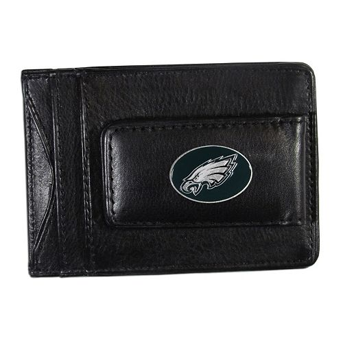 Philadelphia Eagles Black Leather Cash & Card Holder