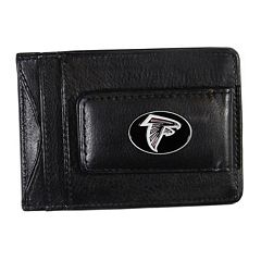 Atlanta Falcons Black Leather Cash & Card Holder