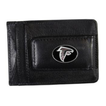 Atlanta Falcons Black Leather Cash & Card Holder