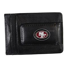 San Francisco 49ers Black Leather Cash & Card Holder