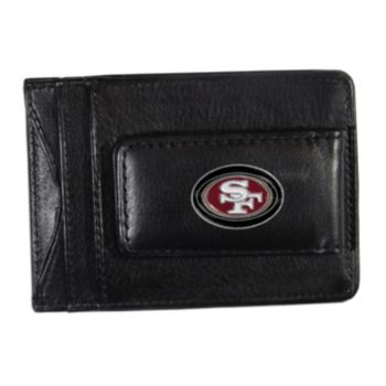 San Francisco 49ers Black Leather Cash & Card Holder