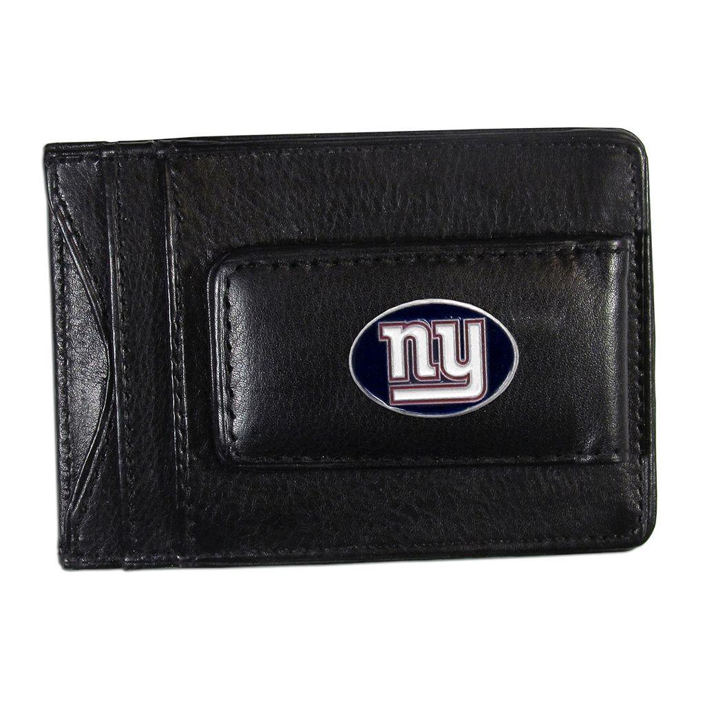 New York Giants Black Leather Cash & Card Holder