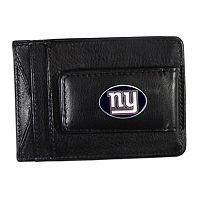 New York Giants Black Leather Cash & Card Holder