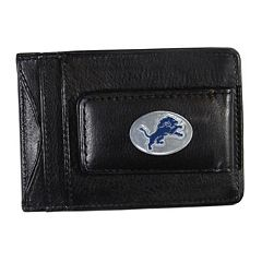 Detroit Lions Black Leather Cash & Card Holder