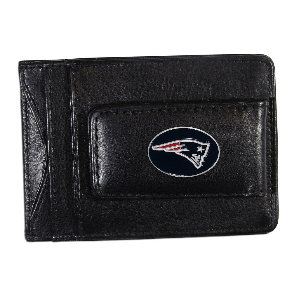 New EnglandPatriots Black Leather Cash & Card Holder
