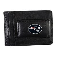 New England Patriots Black Leather Cash & Card Holder