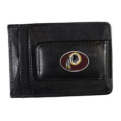 Washington Redskins Black Leather Cash & Card Holder