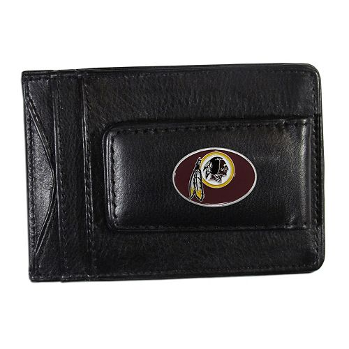 Washington Redskins Black Leather Cash & Card Holder
