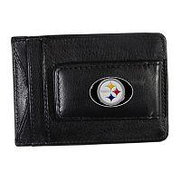 Pittsburgh Steelers Black Leather Cash & Card Holder