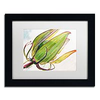 Trademark Fine Art Flower Pod Black Framed Wall Art