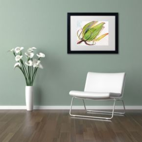 Trademark Fine Art Flower Pod Black Framed Wall Art