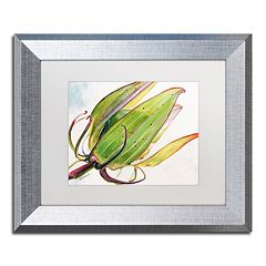 Trademark Fine Art Flower Pod Silver Finish Framed Wall Art