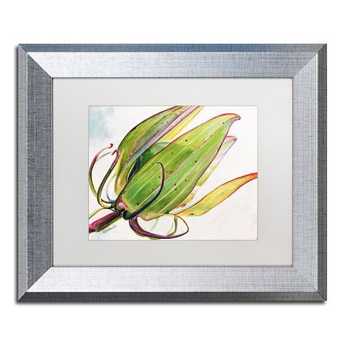 Trademark Fine Art Flower Pod Silver Finish Framed Wall Art