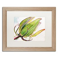 Trademark Fine Art Flower Pod Birch Finish Framed Wall Art