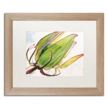 Trademark Fine Art Flower Pod Birch Finish Framed Wall Art