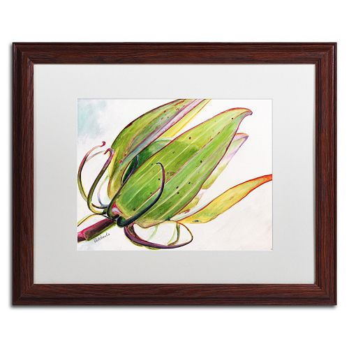 Trademark Fine Art Flower Pod Wood Finish Framed Wall Art