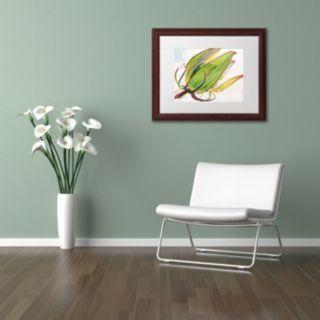 Trademark Fine Art Flower Pod Wood Finish Framed Wall Art