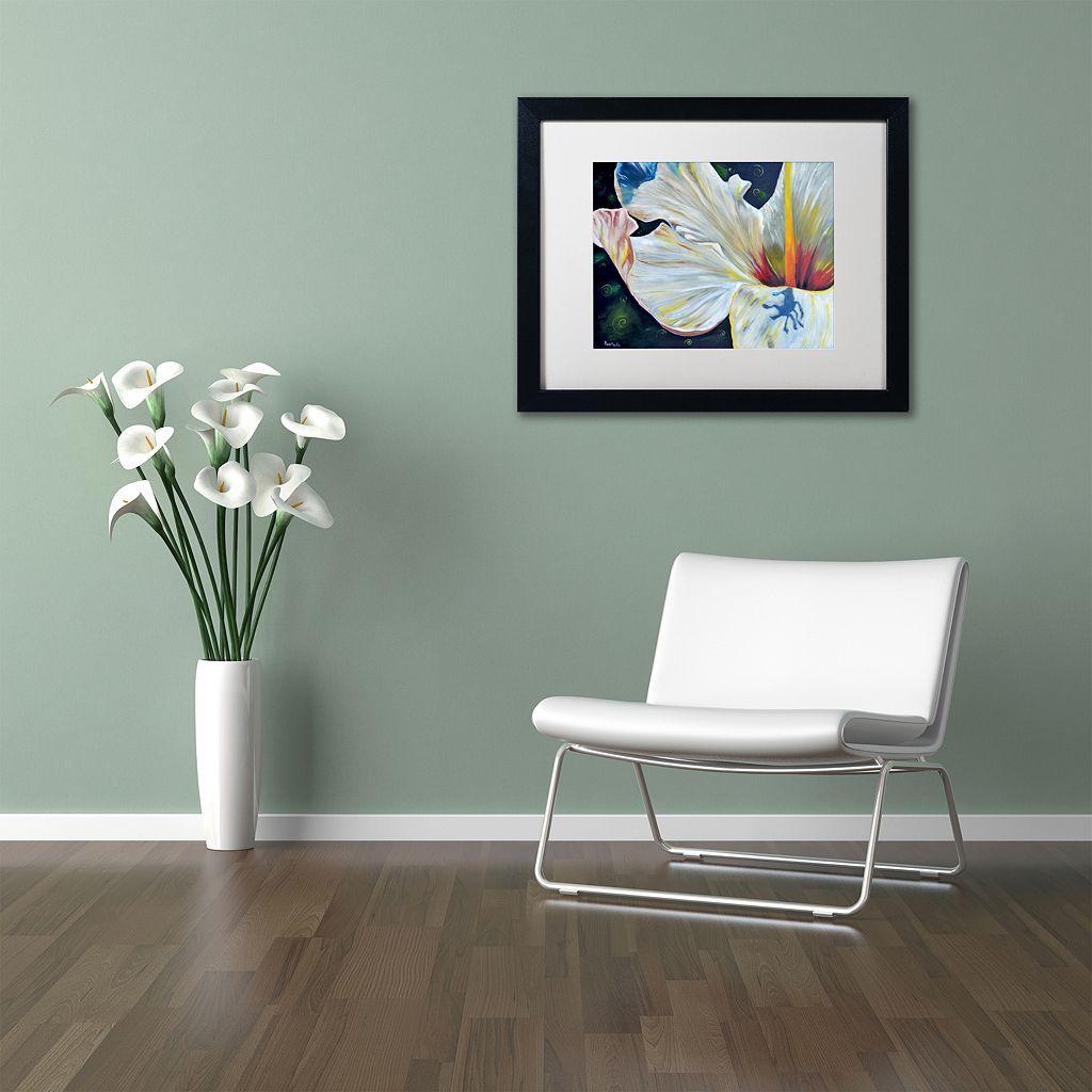 Trademark Fine Art Hibiscus Black Framed Wall Art