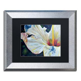 Trademark Fine Art Hibiscus Silver Finish Framed Wall Art