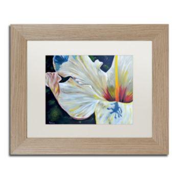 Trademark Fine Art Hibiscus Birch Finish Framed Wall Art
