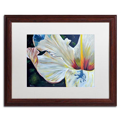 Trademark Fine Art Hibiscus Wood Finish Framed Wall Art
