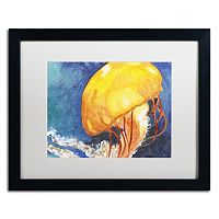 Trademark Fine Art Jelly Fish II Black Framed Wall Art