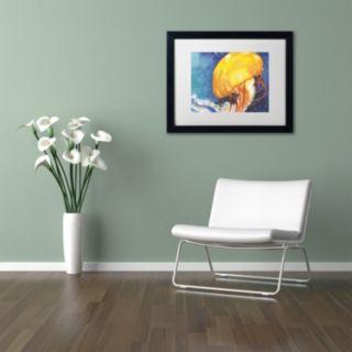 Trademark Fine Art Jelly Fish II Black Framed Wall Art