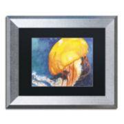 Trademark Fine Art Jelly Fish II Silver Finish Framed Wall Art