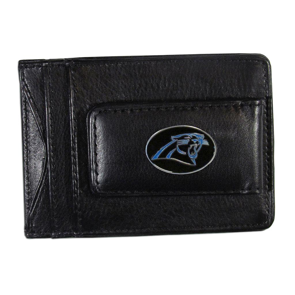 Carolina Panthers Black Leather Cash & Card Holder