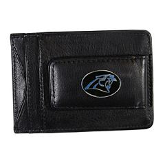 Carolina Panthers Black Leather Cash & Card Holder