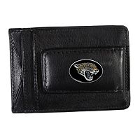 Jacksonville Jaguars Black Leather Cash & Card Holder