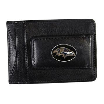 Baltimore Ravens Black Leather Cash & Card Holder
