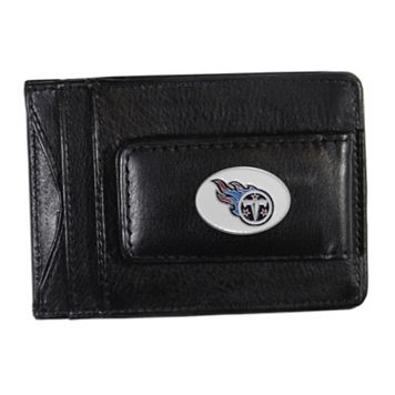 Tennessee Titans Black Leather Cash & Card Holder