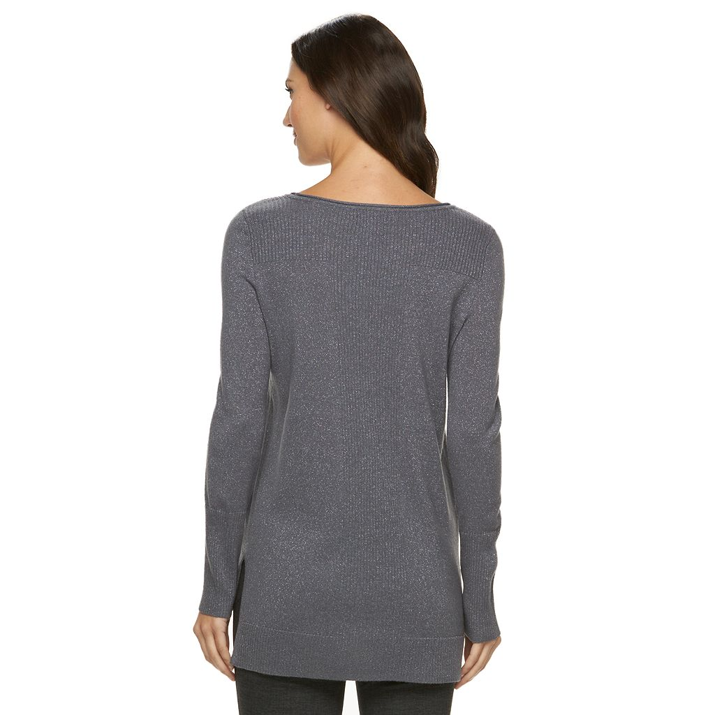 Women's Apt. 9® Sparkle Scoopneck Sweater
