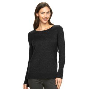 Women's Apt. 9® Sparkle Scoopneck Sweater