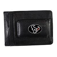 Houston Texans Black Leather Cash & Card Holder