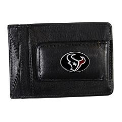 Houston Texans Black Leather Cash & Card Holder