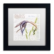 Trademark Fine Art Paris Botanique Lily Black Framed Wall Art