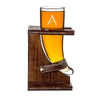 Cathy's Concepts 16-oz. Monogram Viking Beer Horn with Stand