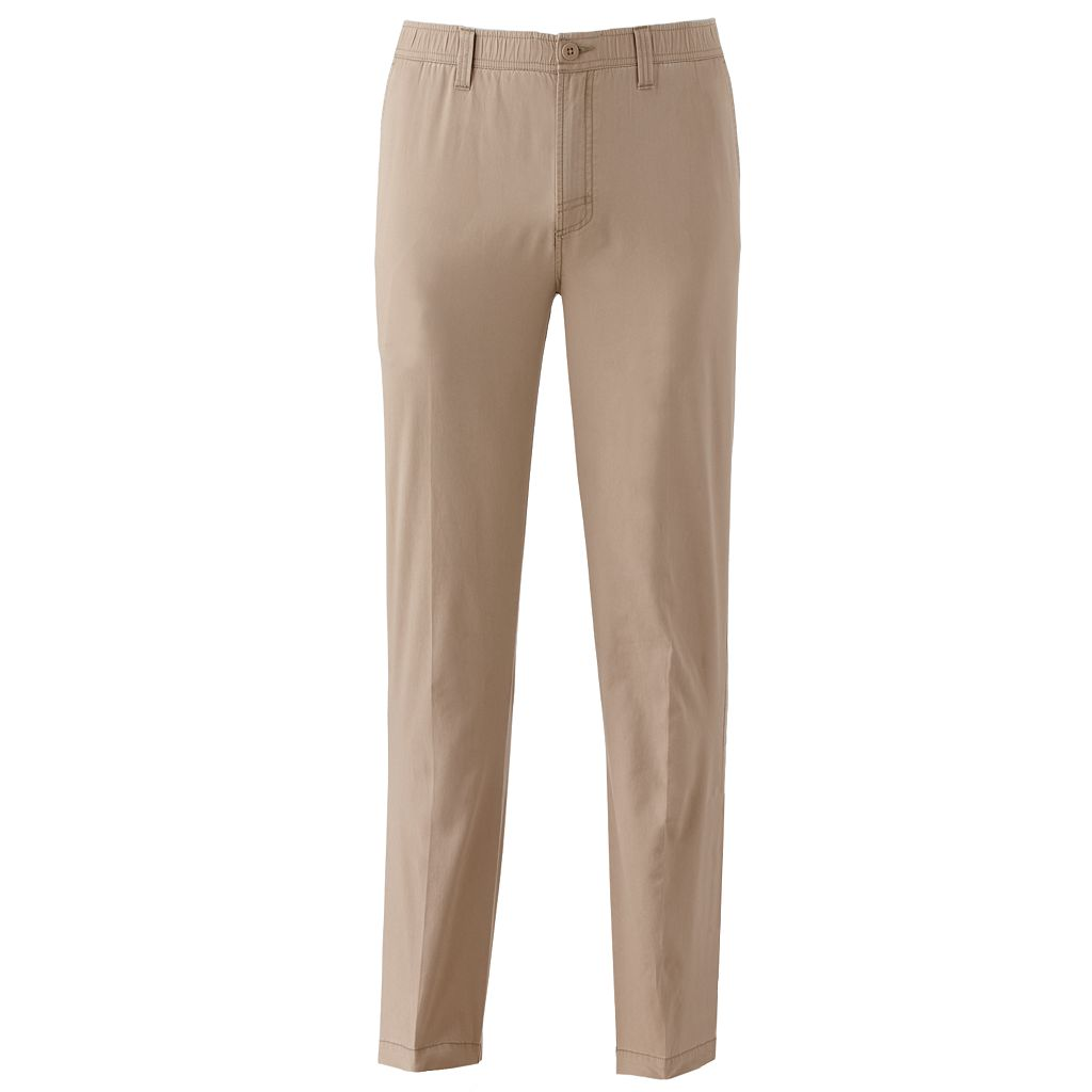 Big & Tall Croft & Barrow® Classic-Fit Full-Elastic Comfort-Waist Pants