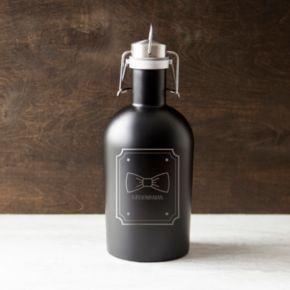 "Cathy's Concepts ""Groomsman"" Bowtie 64-oz. Stainless Steel Craft Beer Growler"