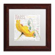 Trademark Fine Art Paris Botanique Yellow Poppy Wood Finish Framed Wall Art