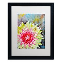 Trademark Fine Art Thistle Matted Black Framed Wall Art