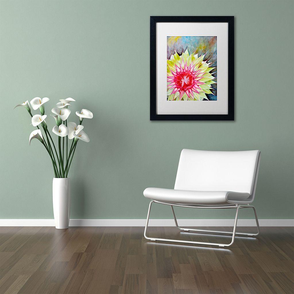 Trademark Fine Art Thistle Matted Black Framed Wall Art
