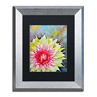 Trademark Fine Art Thistle Silver Finish Framed Wall Art