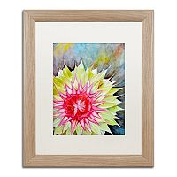 Trademark Fine Art Thistle Birch Finish Framed Wall Art