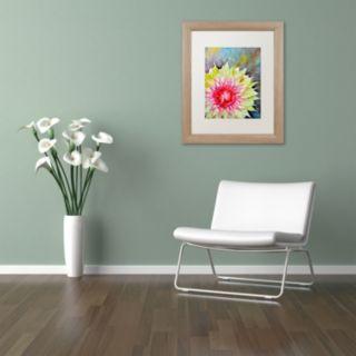 Trademark Fine Art Thistle Birch Finish Framed Wall Art