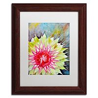 Trademark Fine Art Thistle Wood Finish Framed Wall Art